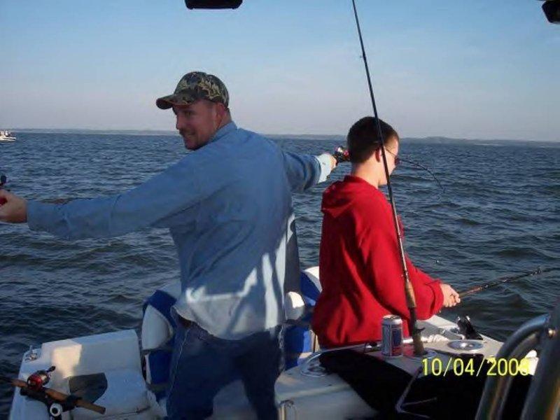Cross creek striper guide service october 2008 fishing for Lake texoma fishing report