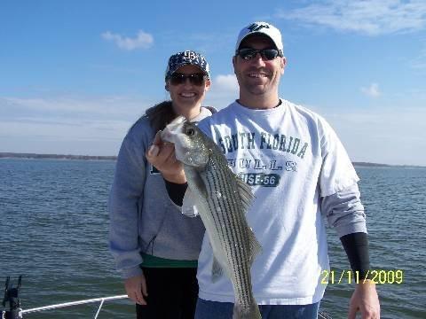 Cross creek striper guide service november 2009 fishing for Lake texoma striper fishing report